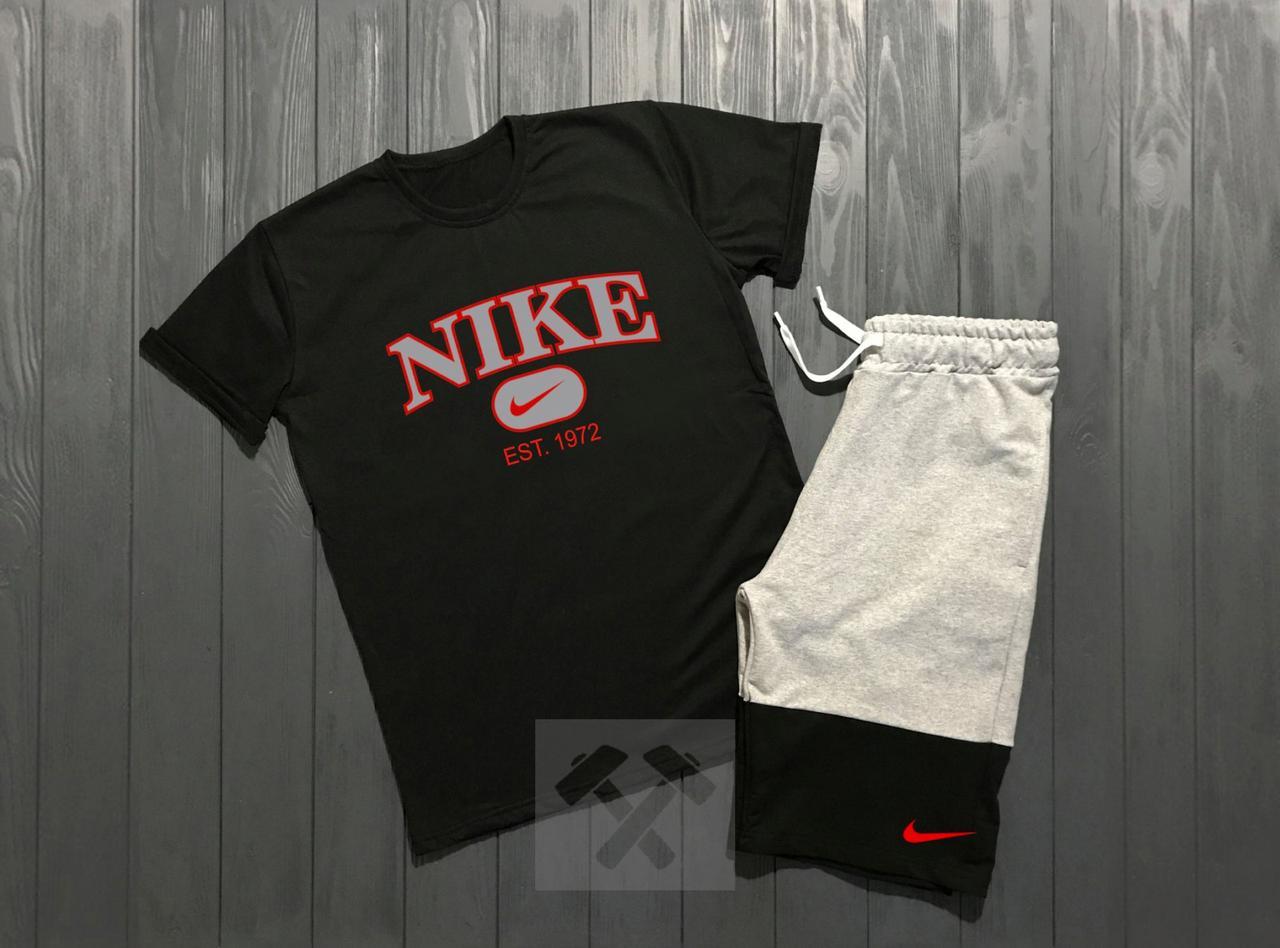 Комплект Nike (Найк), большое лого и красная надпись EST. 1972