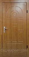 Двери входные металл/МДФ Метр Дор Регион MD 017, 860*2050, R, (орех) 1 замок