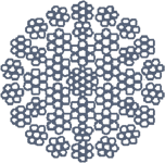 Канат сталевий оц 18х7+6х7)/6х6+6х7+1х19+6+6/6) ТУ У 28.7-00191046-008-2003