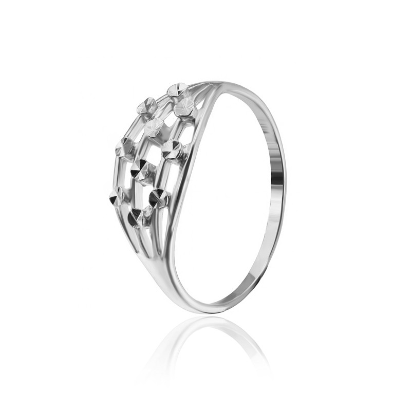"Серебряное кольцо без камней ""523"""