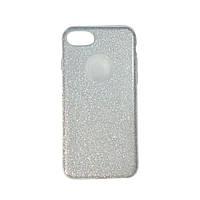 Чехол силиконовый Shine с усиленным бампером и цветной накладкой Apple iPhone 7 Серебро