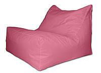 Розовое бескаркасное кресло-лежак из ткани Оксфорд
