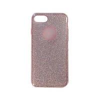 Чехол силиконовый Shine с усиленным бампером и цветной накладкой Apple iPhone 7 Розовый