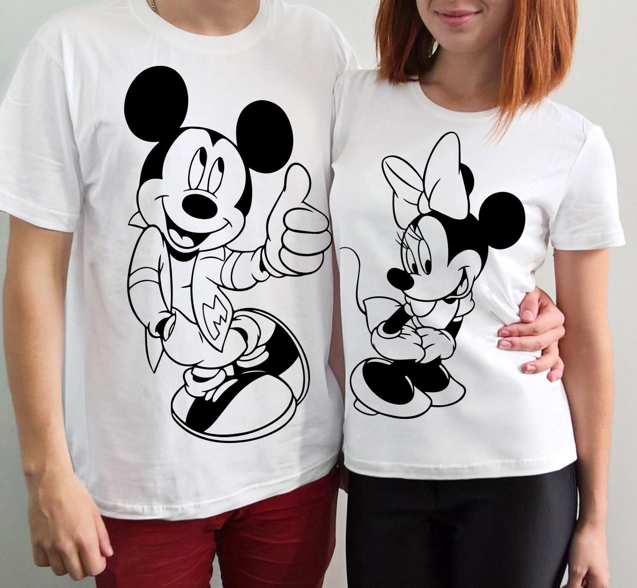 """Парные футболки """"Микки и Минни"""""""