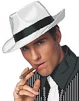 Схема вишивки бісером Він у білому капелюсі