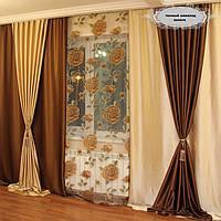 Готовый комплект штор для гостинной интернет магазин 77