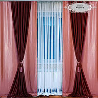 Комплект плотных штор для интерьера фото 77