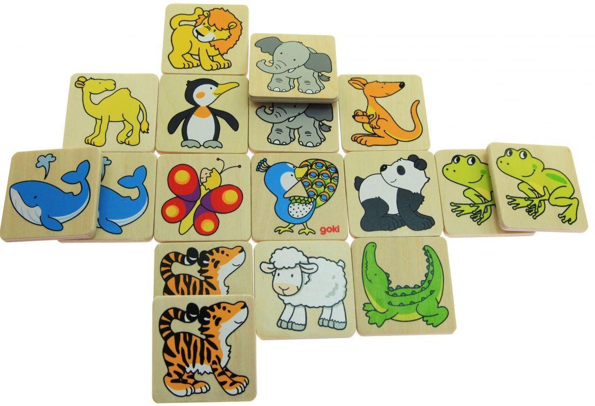 Развивающая игра мемо goki Жители зоопарка 56700