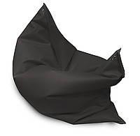 Черное кресло мешок подушка 120*140 см из кож зама, кресло-мат