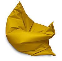 Желтое кресло мешок подушка 120*140 см из кож зама, кресло-мат