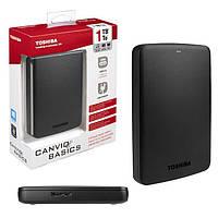 Переносной диск HDD 2.5'' 2TB TOSHIBA USB3.0 Canvio Basics Black