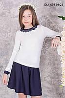 Блузка джемпер для школы для девочек Валори  размеры 32, 34 36, 38оптом и в розницу