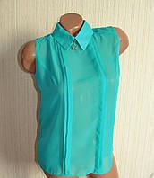 Блузы женские шифоновые безрукавки. Офисные блузки летние., фото 1