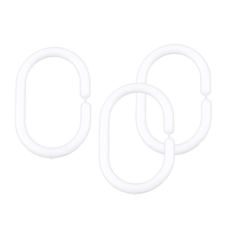 Кольца для шторок белые AWD02101325