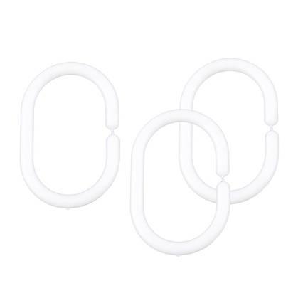 Кільця для шторок білі AWD02101325
