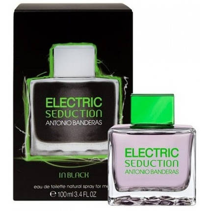 Мужская туалетная вода Antonio Banderas Electric Seduction In Black edt 100 ml реплика , фото 2