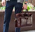 Деловая сумка Issa Hara B23 из натуральной гладкой кожи Коричневый, фото 2