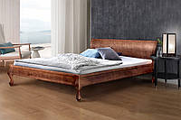 Кровать деревянная двуспальная Николь 1,6 м темный орех