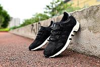 Кроссовки мужские адидас эквипмент 93 черные с белым  adidas