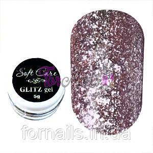 Soft Care GLITZ gel №001 Pink, 5 g