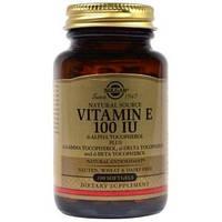 Витамин Е, Solgar, 100 МЕ, 100 капсул