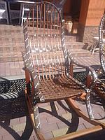 """Плетеное кресло-качалка из лозы """"Розборное домено"""""""