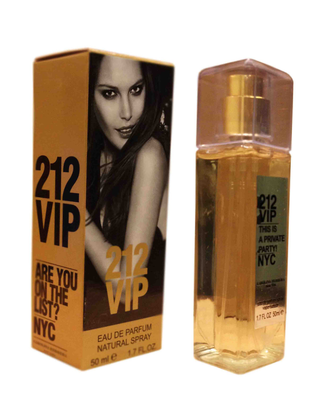 Женская парфюмированная вода Carolina Herrera 212 VIP edp - Crystal Tube 50ml реплика