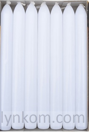 Свеча белая столовая 20х200 мм. (1 шт)