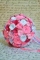 Весільний букет-дублер рожевий 24 см Свадебний букет
