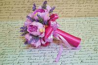 Весільний букет-дублер піони+лаванда фіолетовий Свадебный букет фиолетовый пионы+лаванда