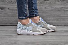 Мужские кроссовки Nike Air Huarache голубые топ реплика