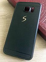 Черный силиконовый чехол Creative case для Samsung Galaxy S6