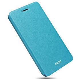 Чехол книжка для Huawei Honor V8 боковой, MOFI Rui Series, голубой