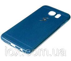 Синий силиконовый чехол Creative case для Samsung Galaxy S6