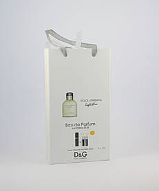 Dolce Gabbana Light Blue pour Homme edt 3x15ml - Trio Bag реплика