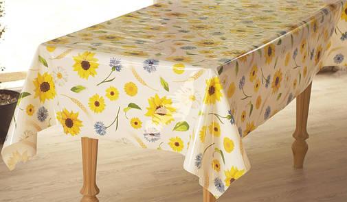 Клеёнка непрозрачная силиконовая Поле с цветами, фото 2
