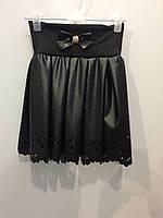 Детская юбка для девочки из экокожи