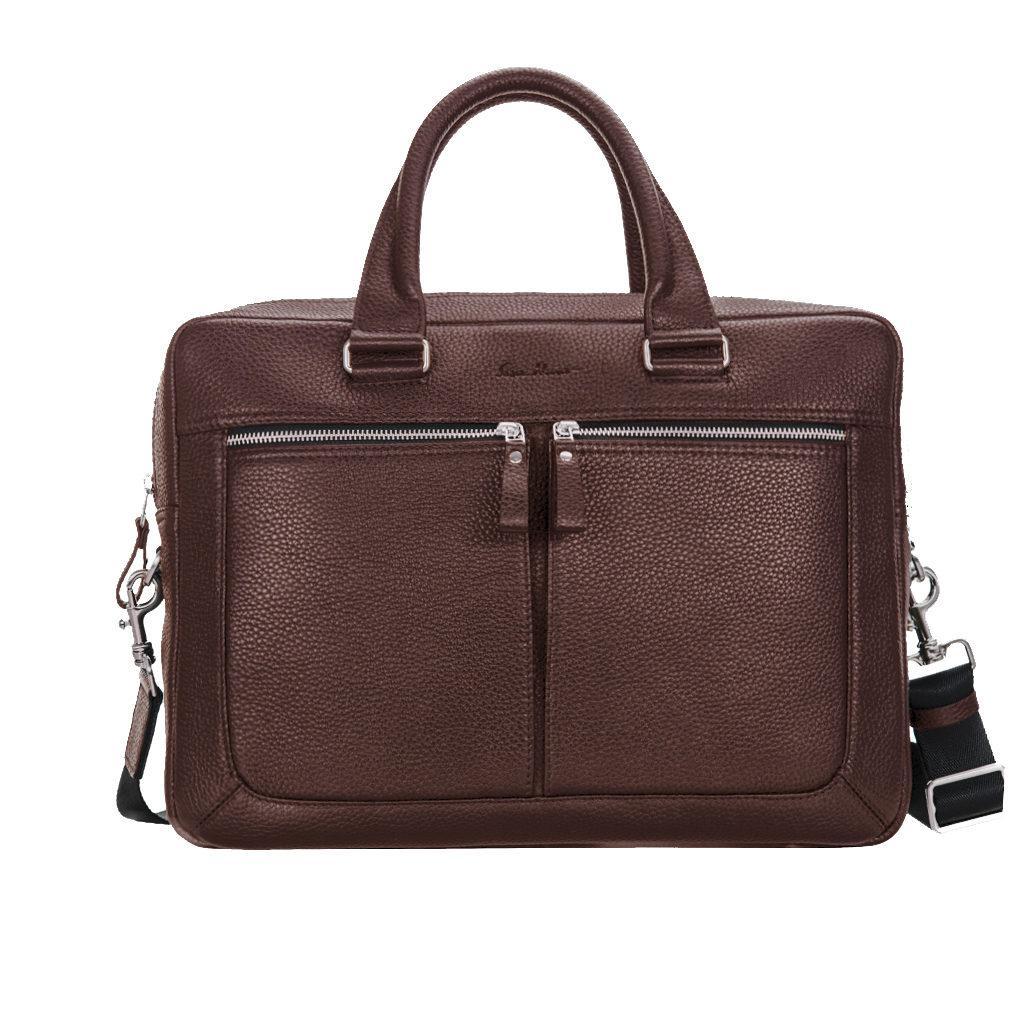 Деловая сумка Issa Hara B23 из натуральной фактурной кожи