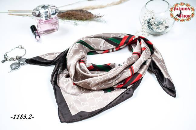Брендовый шёлковый платок GUCCI (реплика), фото 2