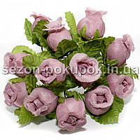 "Цветок ""Бутон розы"" (цена за букет из 12 шт). Цвет - темно розовый"