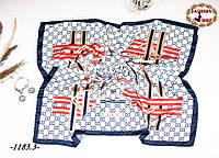 Брендовый шёлковый платок GUCCI, фото 1