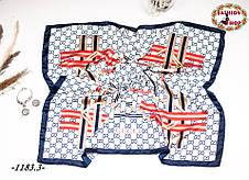 Брендовый шёлковый платок GUCCI