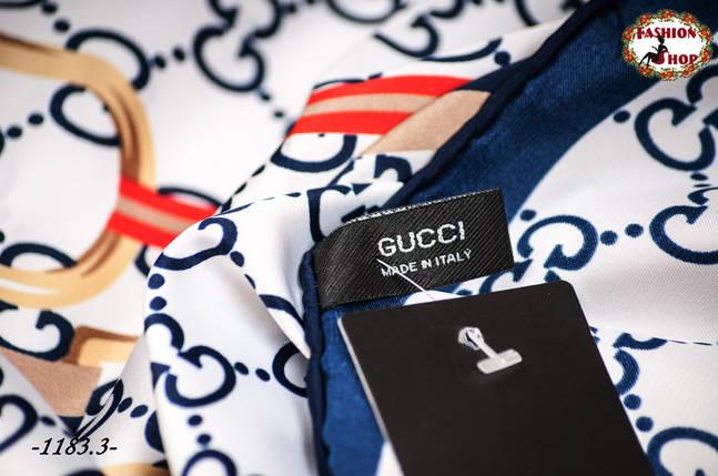 Брендовый шёлковый платок GUCCI, фото 2