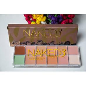 Палітра кремових консилерів 12 відтінків Naked3 для макіяжу репліка, фото 2