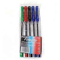 """Набір Piano """"Finegrip"""" PT-111/5 кулькові ручки 5шт, 4 кол."""