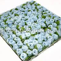 """Цветок """"Бутон розы"""" (цена за пачку  144 шт). Цвет - голубой"""