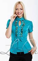 Блуза нарядная с рюшами к\рукав по акции