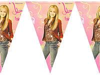 Флажки бумажные Девушка