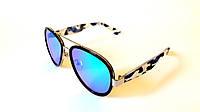 Солнцезащитные очки Omega авиатор в пластике и металле, зеркальные