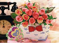 Схема для вышивки бисером Розы.